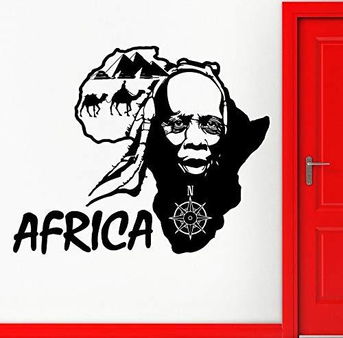 Vinilo Adhesivo de pared África País Mapa de viaje Fútbol Voleibol Rugby