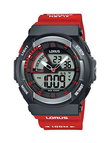 Lorus Herren-Armbanduhr, Silikon, Rot