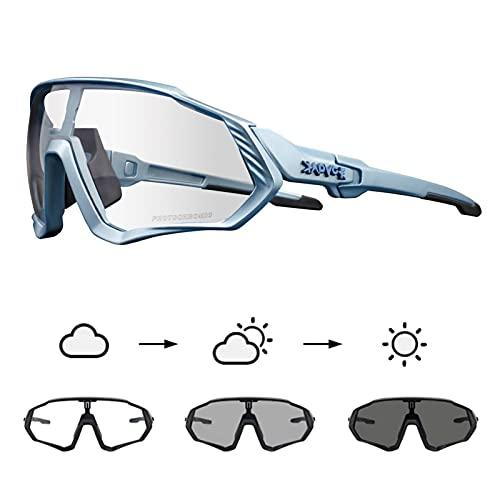 KAPVOE Gafas de Ciclismo Fotocromáticas con TR90 Gafas de Sol Deportivas Mujeres Hombres Running Transparente MTB Accesorios de Bicicleta 09