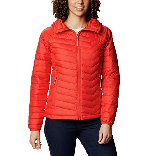 Columbia Powder Lite Hooded Chaqueta Aislante con Capucha, Mujer, Bold Orange, S