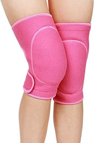 CAODANDE-huju Schutzkleidung Männer Sport Kneepad Dame Tanzen Yoga Sponge Run Schutz Knie Schutzausrüstung (Color : PINK)