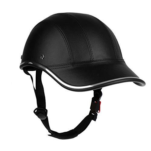 UnisexErwachseneFahrradhelm Verstellbarer Unisex Fahrrad Fahrradhelm Baseballkappe Anti UV Sicherheits Fahrradhelm Männer Frauen Rennrad Helm für MTB Skaten-Schwarz