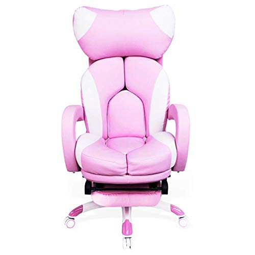 N/Z Daily Equipment Computer Chair Office Lady Boss Chair Child Bedroom Princess Chair Cute Girl Comfortable Lifting Armchair Student Dormitory Pink 64cm*64cm*130cm