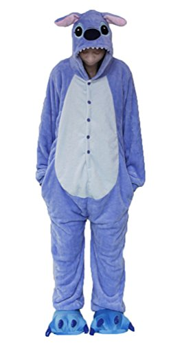 Brinny Adulte Unisexe Combinaison Pyjamas Cosplay Costume Soiree de Déguisement Anime Animal Fleece Vêtements Onesie de Nuit Fantaisie - M