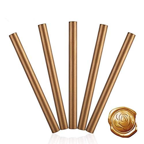 5 stuks meerkleurige kabel flexibele zegelwas was voor postzegels waszegel stempel wax-zegel rood 5 stuks (kleur: brons)