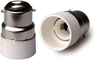 E-Simpo 6-pack B22 to E14 Adapter, Bayonet Cap B22 to E14 Chandelier Lamp Base Converter, Z1043