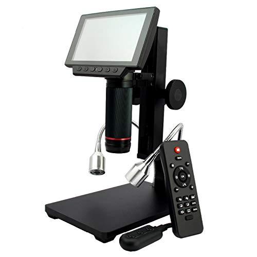 lifebea Detector de gas 4 gas Digital USB/HDMI/AV Microscopio ADSM302 5' Pantalla incorporada Alta Distancia de Objeto THT SMD Herramienta de Medición Software de Flujo de agua Interruptor sensor