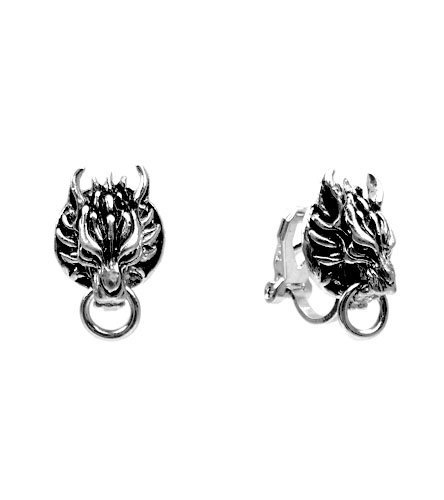 Clip on Earrings for Cosplay of Ff7 Cloudy Wolf