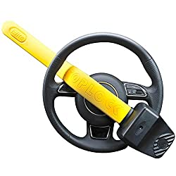 STOP CAR THIEVES by using a Stoplock steering wheel lock; this popular power tool resistant anti-theft device prevent criminals from steering and therefore stealing your car TOP OF THE RANGE MODEL with a 10 year guarantee - 10, 000 key combinations -...
