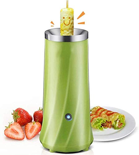 Eierkocher, Einrohr-automatische Multifunktionsmaschine Frühlingsrolle elektrische Eierkocher Omelett Master Wurstmaschine Frühstückei Werkzeug, grün QIANGQIANG (Color : Green)