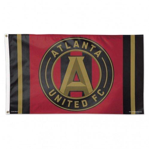 WinCraft Soccer Atlanta FC 15190115 Deluxe Flag, 3' x 5'