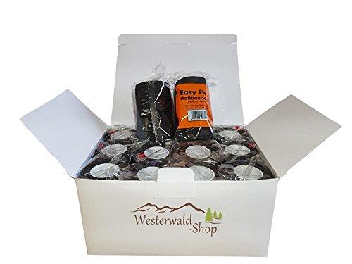 Westerwald-Shop 12 x Haftbandage Bandagen Selbshaftende Bandage Klettbandage (5cm breit (12 Stück), schwarz)