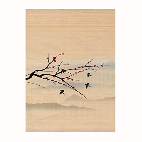 CHAXIA Bambus-Rollo Druck Raffrollo Wohnzimmer Raumteiler Hängende Bild Chinesischer Stil Venedig Rollo Wohnzimmer Schlafzimmer 2 Stile 24 Größen anpassbare Größe, a, 110cmX135cm