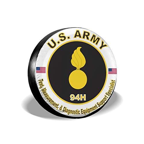 LYMT Army MOS 94H Spezialist für Test-, Mess- und Diagnoseunterstützung Ersatzreifenabdeckung Radreifenabdeckungen Passend für Anhänger RV SUV 15-17 Zoll