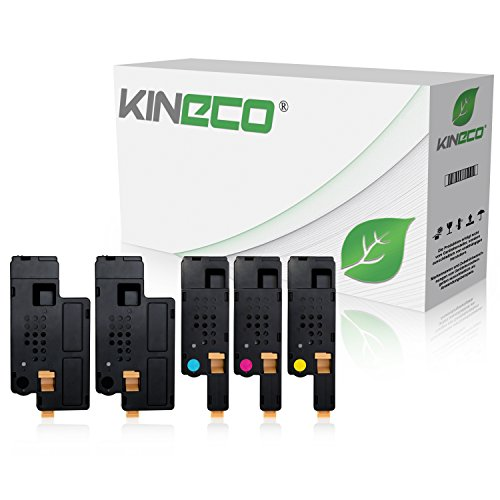 5 Toner kompatibel zu Dell 1250c, 1350cn, 1355cnw, C1760nw, C1765nf, C1700 Series - Schwarz je 2.000 Seiten, Color je 1.400 Seiten