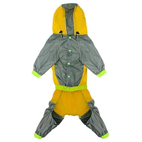 Feidaeu Chaqueta Impermeable Impermeable Chaqueta Reflectante Impermeable y Transpirable Monos de Seguridad Poncho Ropa para Perros