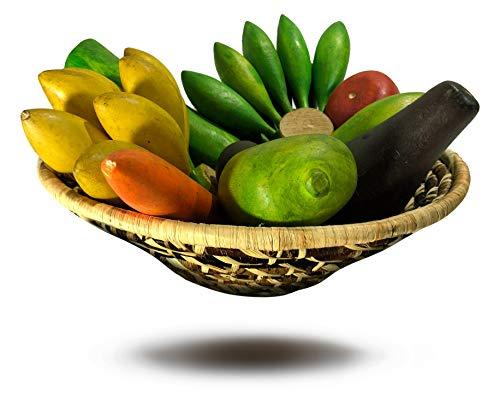 Generisch Handgeflochtener Obstkorb (Fruit Basket) - Tischdeko/ 3D Obstschale