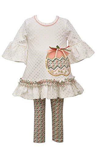 Bonnie Jean – Roupa de Ação de Graças para bebês e meninas pequenas, Multicolored, 4T