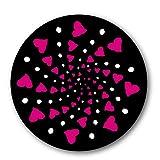 Nikidom - Mochila Niños Ruedas - Roller 2 Adhesivos - Modelo Cuore - Pegatinas para Ruedas Mochila Escolar - Originales Diseños con Efectos Ópticos - Repuesto para Ruedas - Accesorios Mochilas