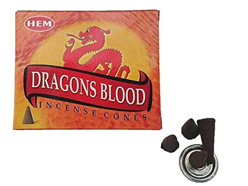 登録する業界喉頭HEM(ヘム)お香 ドラゴンズブラッド コーン 1箱