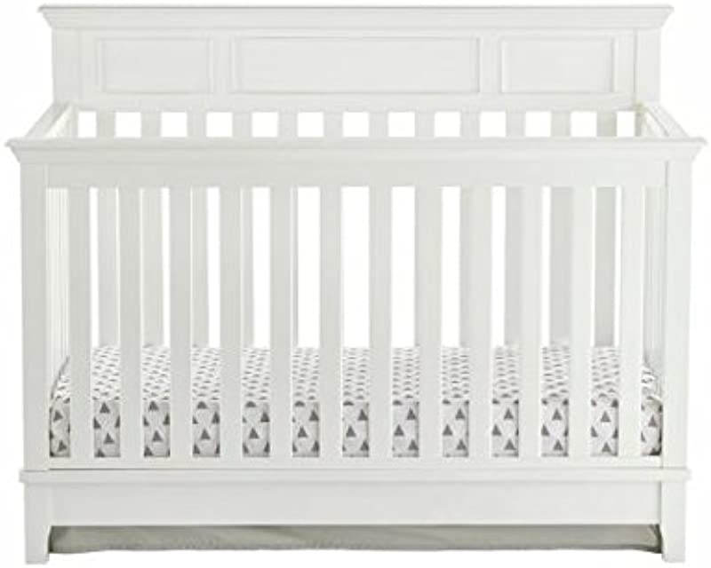Kolcraft 4 In 1 Easy To Assemble Harper Convertible Crib Built In Hardware 3 Mattress Height Positions White