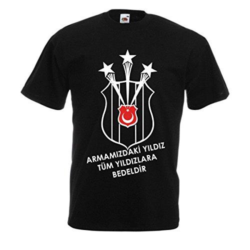 T Shirt Besiktas Carsi Sampiyon Türkiye Istanbul Kara Kartal TS1022 (M, Schwarz)