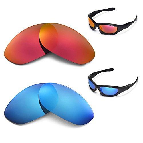 New Walleva Polarized Ice Blue + Fire Red Lenses...