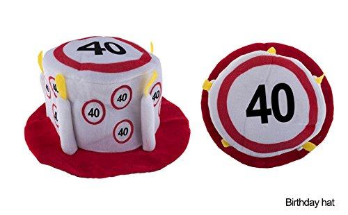 Hut Geburtstag 40 Jahre Verkehrsschild