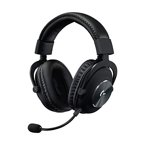 Logitech PRO Gaming-Headset, Dolby Surround Sound, 50 mm PRO-G Treiber, 3,5 mm Klinke, Bügelmikrofon, Audio-EQ-Profile, Ohrpolster mit Memory-Foam, Leichtgewicht, PC/Xbox One/PS4/Nintendo Switch/VR PC