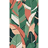 RoomMates RMK11572RL Green and Red Hearts Of Palm Peel and Stick Wallpaper