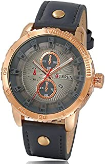 CURREN Watch for Men, Leather Band, M8206