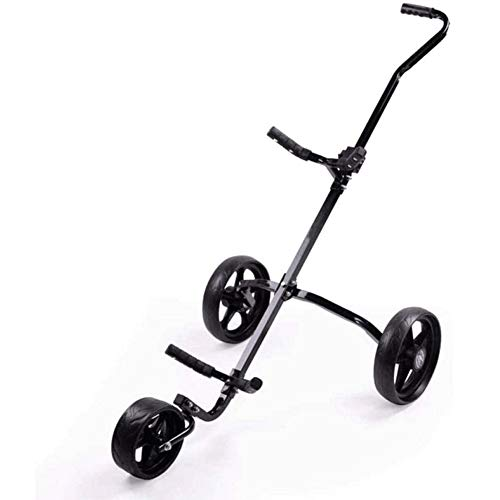 LILIS Golf trolleys,Fold Golfwagen Golf Cart 3 Räder Faltbare Golf Trolley Easy Push und Pull Handwagen