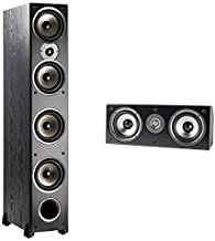 Polk Audio Monitor Series 3 Channel Home Theater Bundle | Includes One (1) Monitor 70 Tower Speakers & One (1) Monitor CS1 Center Channel | Incredible Value Home Theater