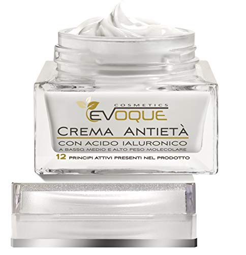 Crema Viso Antirughe Acido Ialuronico - Idratante Biologica Made in Italy - Crema Viso Uomo Donna