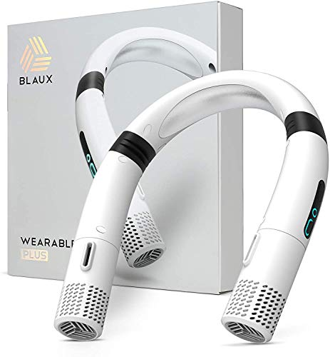 BLAUX Wearable AC – Aire acondicionado portátil y mini ventilador | Ventilador cervical móvil | Aire acondicionado portátil | Ventilador de cuello colgante portátil | Ventilador de cuello colgante