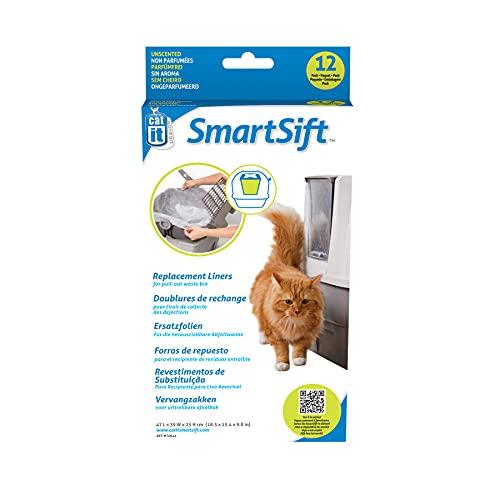 Catit biologisch abbaubare Einlagen für die Catit Smart Sift Katzentoilette, 47 x 39 x 25cm, 12er Pack