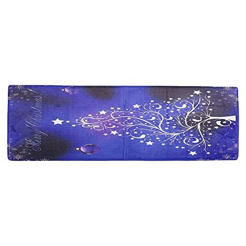 JYCTD Alfombrilla de Navidad de Franela Alfombra de Puerta Alfombrilla Absorbente para pies con Antideslizante para Cocina Baño Dormitorio Sala de Estar
