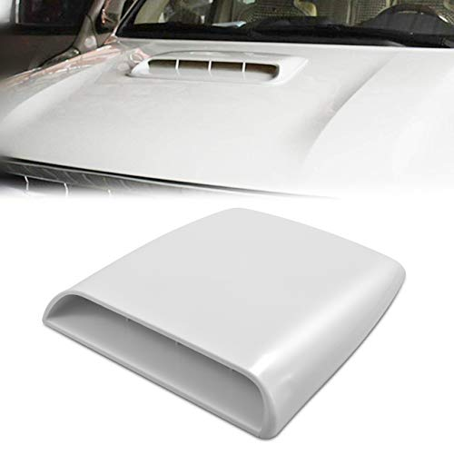 TUINCYN Universal Car Vents Decorative Air Flow Intake Hood Scoops Ventilation White Cover