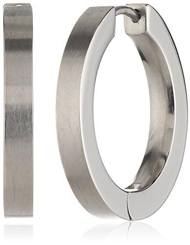Pure Grey Unisex-Creolen Titan 3034