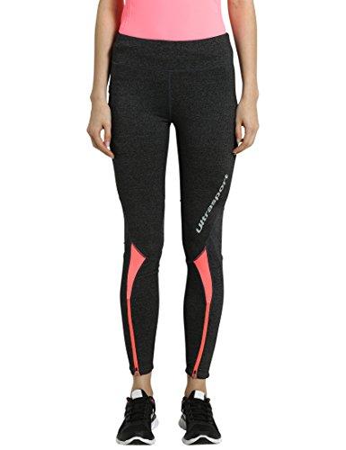 Ultrasport-Mallas largas para mujer, color gris oscuro, talla XS