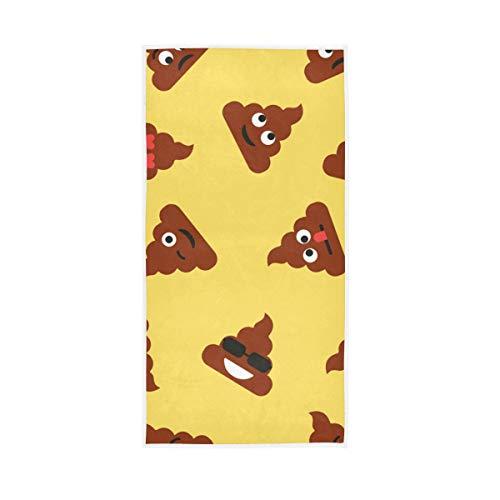 WowPrint Funny Emoji Shit Handtuch Quick Dry Handtücher für Sport Gym Yoga Strand Bad Wandern Schwimmen Dusche Reise 76 x 38 cm