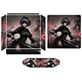 Nier Automata Anime Game Console Skin Stickers, Compatible with PS4 Pro Controllers and Console Skin Stickers