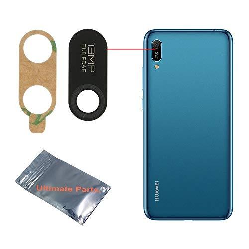 UP! ULTIMATE PARTS - pour Huawei Y6 2019 MRD-L21 / MRD-LX1 Lentille vitre en Verre de Remplacement de la caméra Arrière Appareil Photo avec adhésif 3M - Qualité OEM