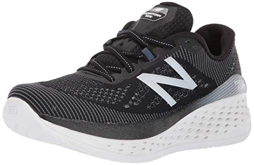 New Balance Women's Fresh Foam More V1 Running Shoe, Black/Orca, 10 W US