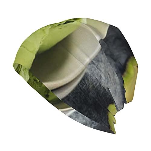 best& Casero verde orgánico aguacate helado alimentos poliéster sueño Cap Slouch Beanie sombrero interior Chemo Headwear para hombres y mujeres
