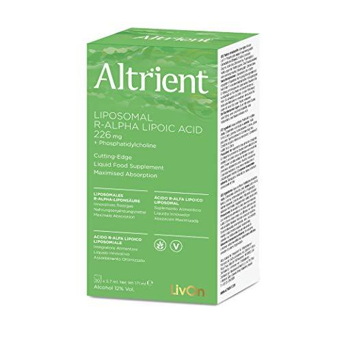 Altrient R-ALA, Ácido Lipoico Alfa Lipoico Reducido/R ALA de LivOn Labs -ALA - Antioxidante, Alta Calidad, Ácido Liposomal R-Alfa Lipoico