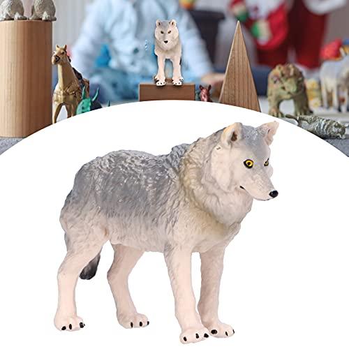 Brinquedo de estatueta de lobo, crianças Brinquedo cognitivo Estatuetas de brinquedo de lobo Simulação Animais selvagens Modelo de animais de lobo Brinquedo Estatueta de animais de lobo