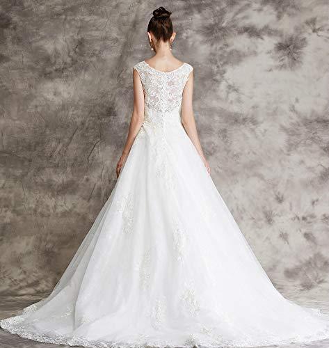 Brautkleid mit Spitze und Mieder - 5
