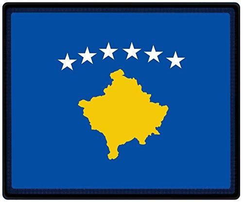 Muismat muismat met motief - Kosovo vlag voetbalschoenen - 82086 - maat ca. 24 x 20 cm.