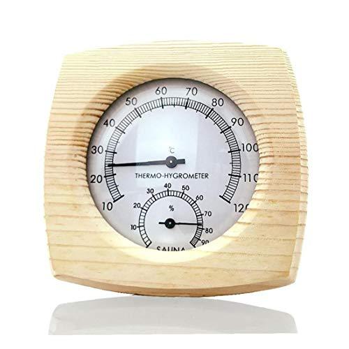 Uayasily Sauna termómetro al Aire Libre de Interior Multifuncional Sauna Suministros inductivo del Puntero Inicio Dial Medidor de Humedad higrómetro